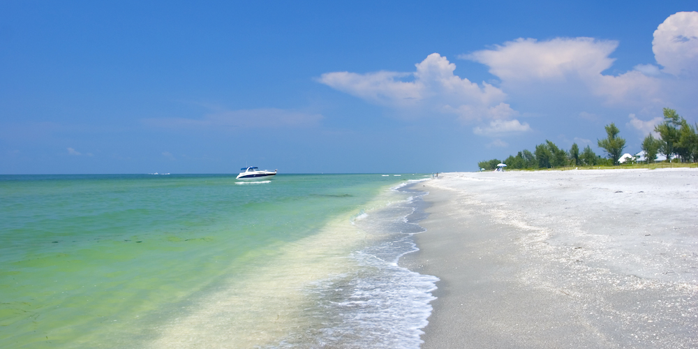 sanibel island beach setting