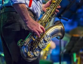 man playing jazz music